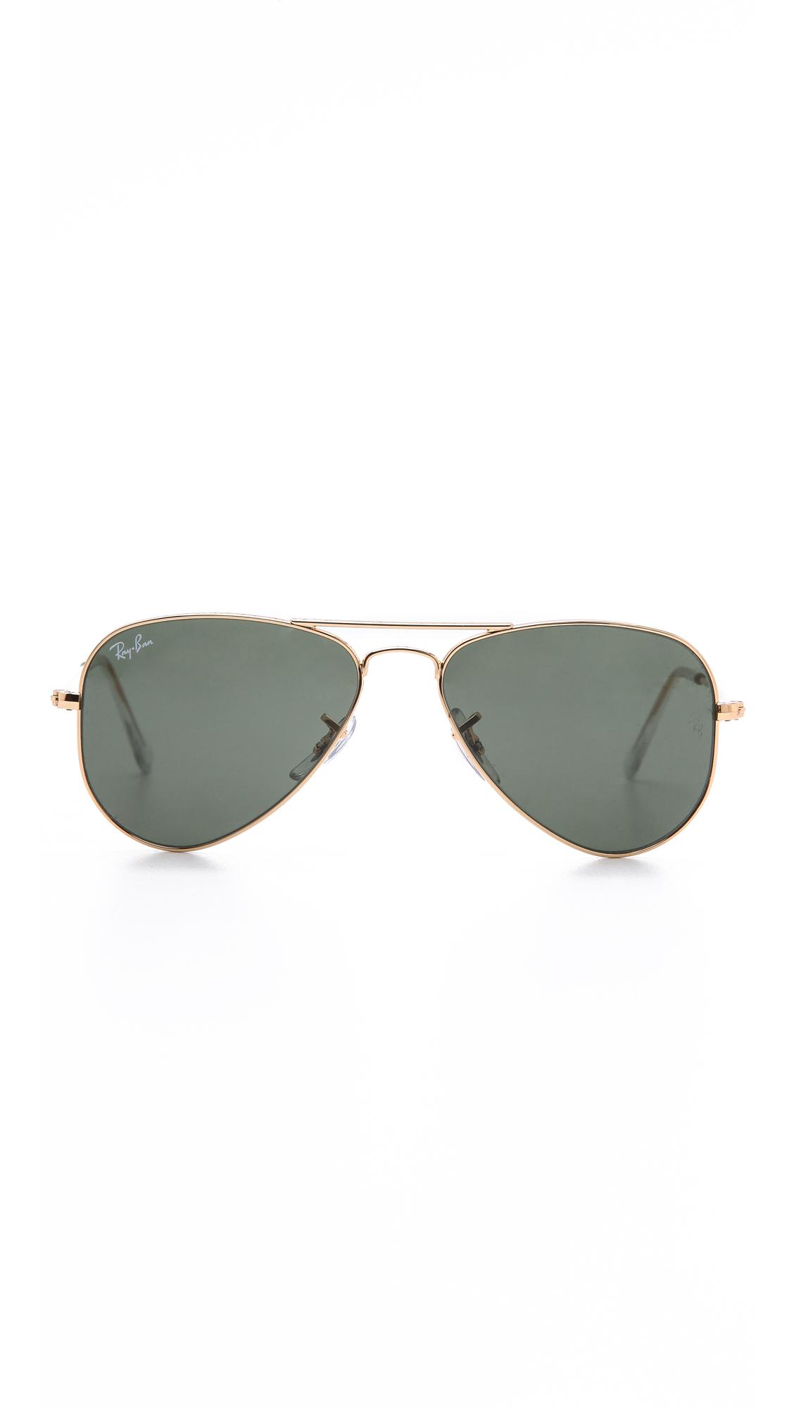 Ray-Ban Солнцезащитные очки авиаторы Shrunken | SHOPBOP