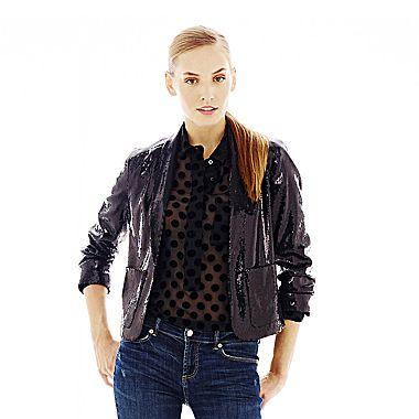 jcpenney | Joe Fresh™ Sequin Jacket