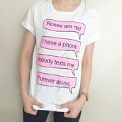 t-shirt,yeah bunny,roses,marble tee,forever alone,gift ideas,white,foldedsleevs,marble,roll-up