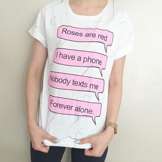 t-shirt yeah bunny roses marble tee forever alone gift ideas white foldedsleevs marble roll-up
