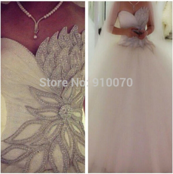 dress wedding dress bridal dresses 2015 crystals wedding dress white wedding dress sweetheart wedding gown