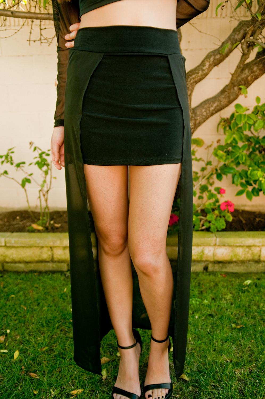 Mesh maxi skirt – gold soul