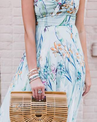 bag tumblr bracelets stacked bracelets jewels jewelry silver jewelry dress floral floral dress