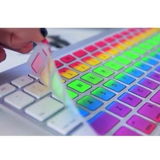 technology keyboard rainbow ombre jewels