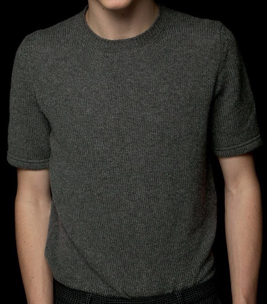 t-shirt woven grey sweater grey t-shirt
