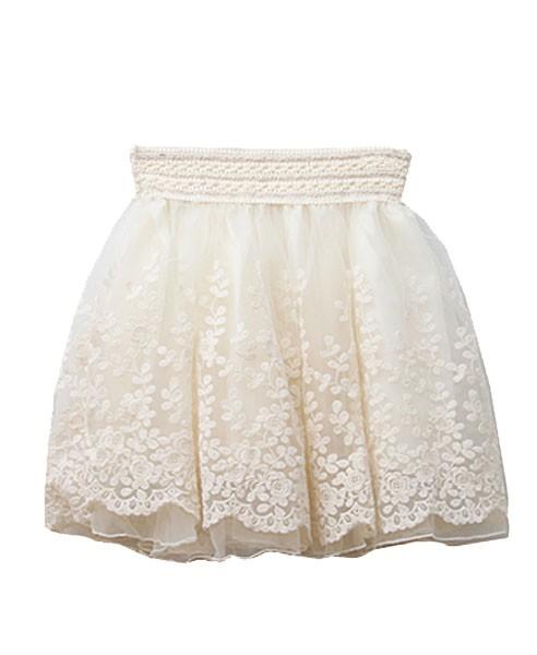 Lace Detailed Skater Skirt