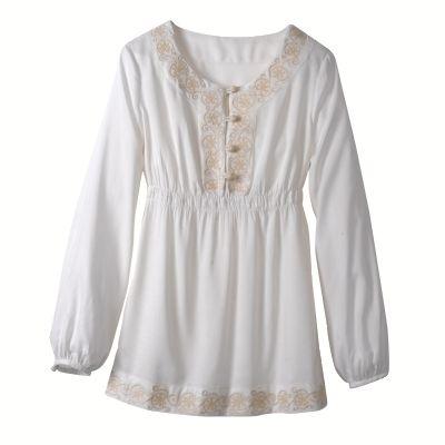 Blouse brodée femme votre mode du 38 au 58, toutes les chemises, tuniques collection automne hiver 2010