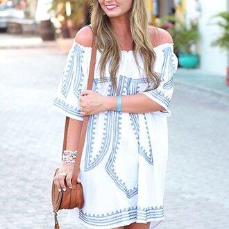 dress cute dress white dress short dress off the shoulder dress nice black dress mini dress