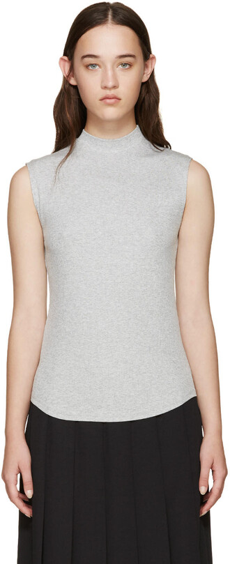 t-shirt shirt sleeveless grey top