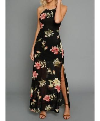 dress tropical dresses floral dress black dress maxi dress