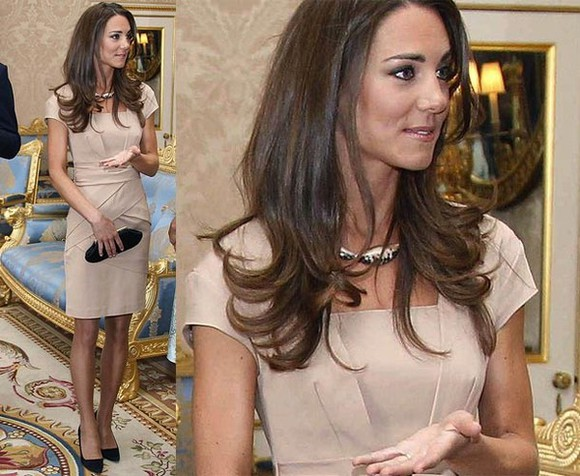 kate middleton celebrity brown dress