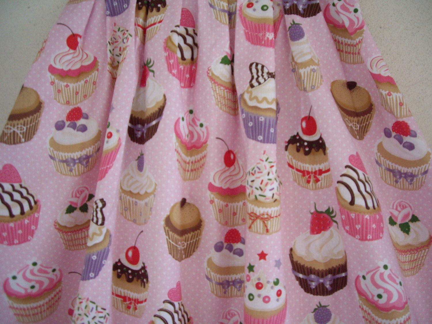 Pink Cotton Cupcake Summer Skirt