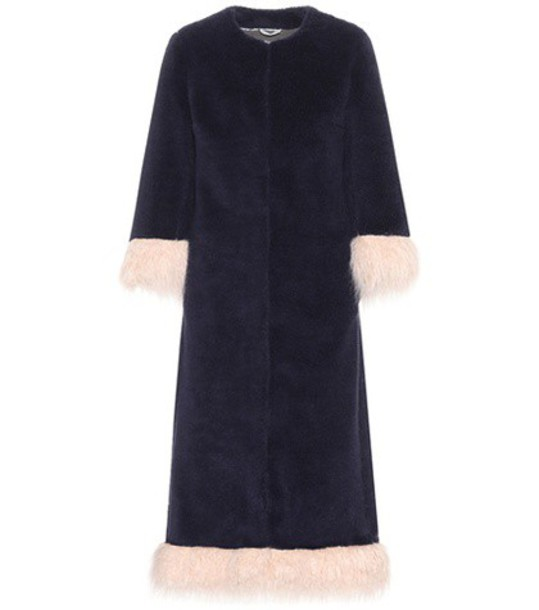 Shrimps coat wool blue