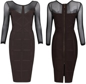 dress,dream it wear it,long sleeves,long sleeve dress,brown,brown dress,black,black mesh,mesh dress,bodycon,bodycon dress,bandage,bandage dress,party,party dress,sexy party dresses,sexy,sexy dress,party outfits,fall outfits,fall dress,spring,spring dress,winter outfits,winter dress,classy,classy dress,elegant,elegant dress,girly,date outfit,birthday dress,holiday dress,holiday season,romantic,romantic dress