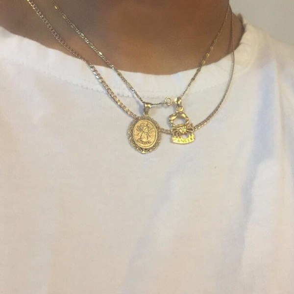 jewels gold vintage gold jewelry tumblr gold necklace necklace zodiac signs rose