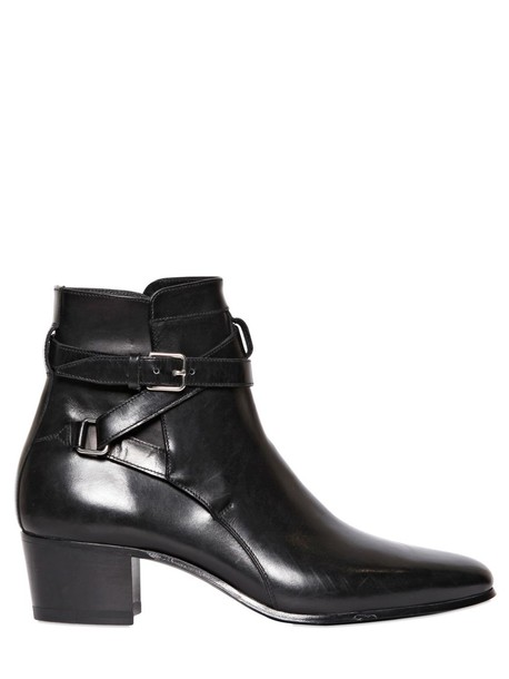 Saint Laurent leather ankle boots boots ankle boots leather black shoes