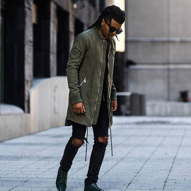 Jacket Maniere De Voir Longline Bomber Coat Outerwear Menswear Casual Streetstyle