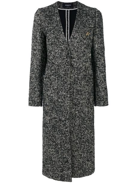 Rochas coat women black wool
