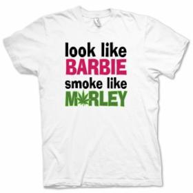 Look Like Barbie, Smoke Like Marley White T Shirt | Men's t-shirts & polo shirts | Fruugo USA