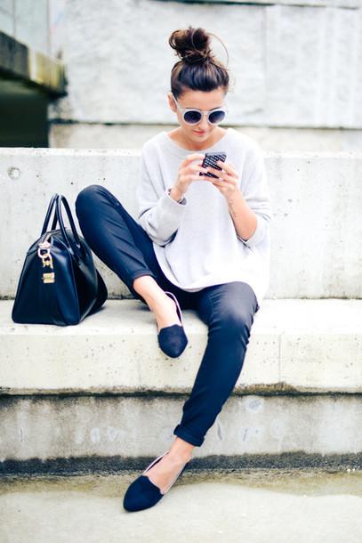 lovely pepa sweater pants shoes bag sunglasses jewels shorts