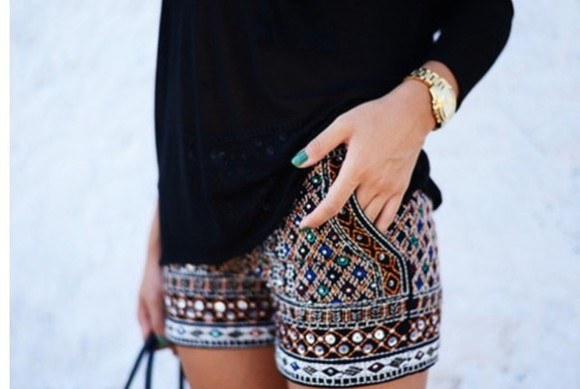 black blouse shorts zara shorts