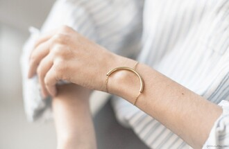 garance dore blogger bracelets gold minimalist minimalist jewelry