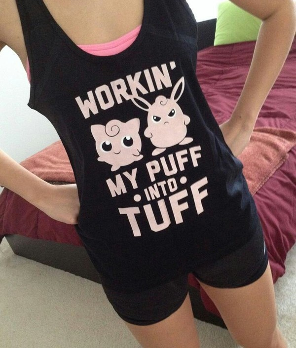 tank top black pokemon black tank top shirt workout workout workout