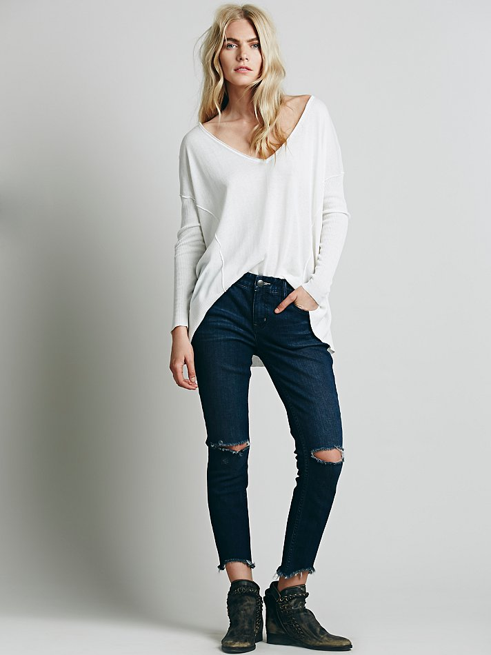 Free People Destroyed Ankle Skinny