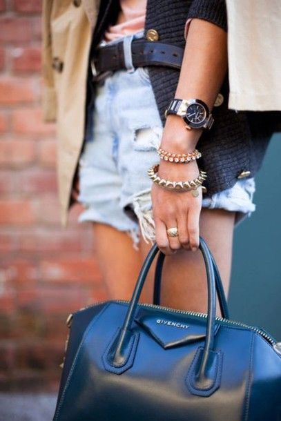 shorts watch trench coat spikes bracelets cuffs