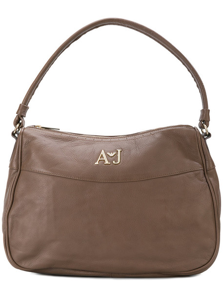 ARMANI JEANS women leather brown bag