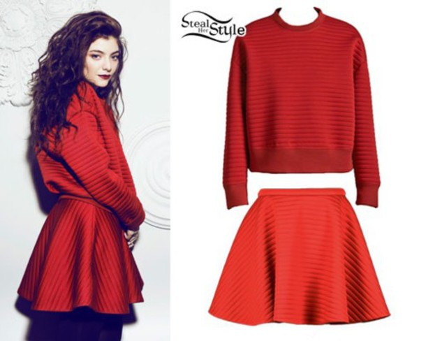 skirt sweatshirt lorde padded warm sweg make-up sweater winter swag peplum skirt