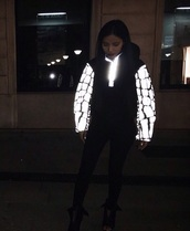 jacket,black and white,dope,neon,home accessory,glow in the dark