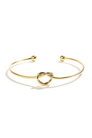 Let's Tie the Knot Gold Bracelet