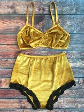 swimwear,yellow,summer,spring,style,two-piece,trendy,fashion,zaful
