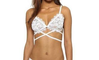 underwear girl girly girly wishlist lace lace bra bra bralette lace bralette strappy white
