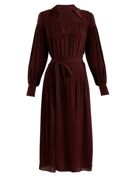 Joseph dress midi dress midi silk burgundy