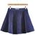 Blue Ruffle Velvet A Line Skirt - Sheinside.com