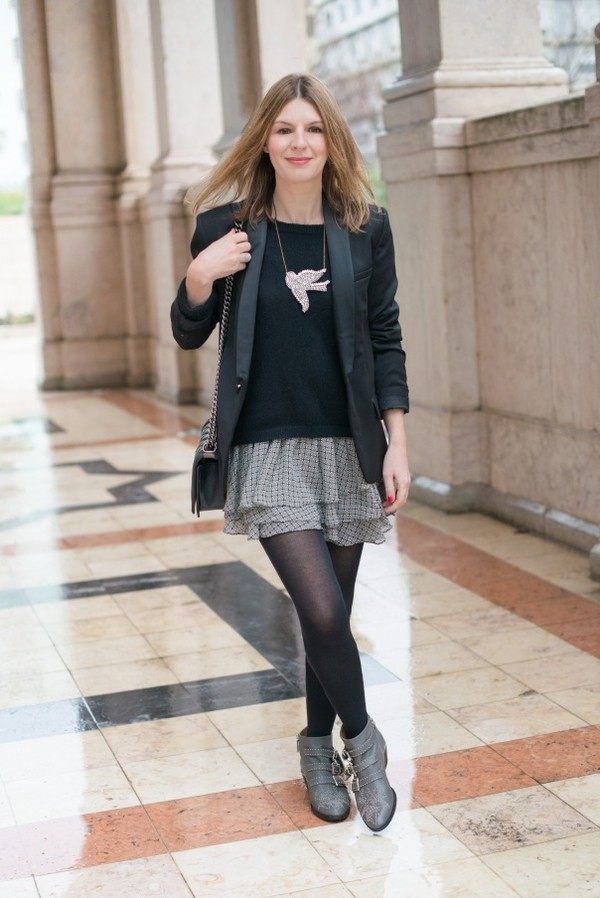 the working girl dress sweater jacket shoes bag jewels