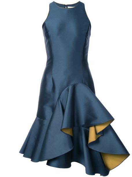 Sachin & Babi dress women blue satin