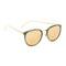Linda farrow luxe round mirrored sunglasses - jade/gold