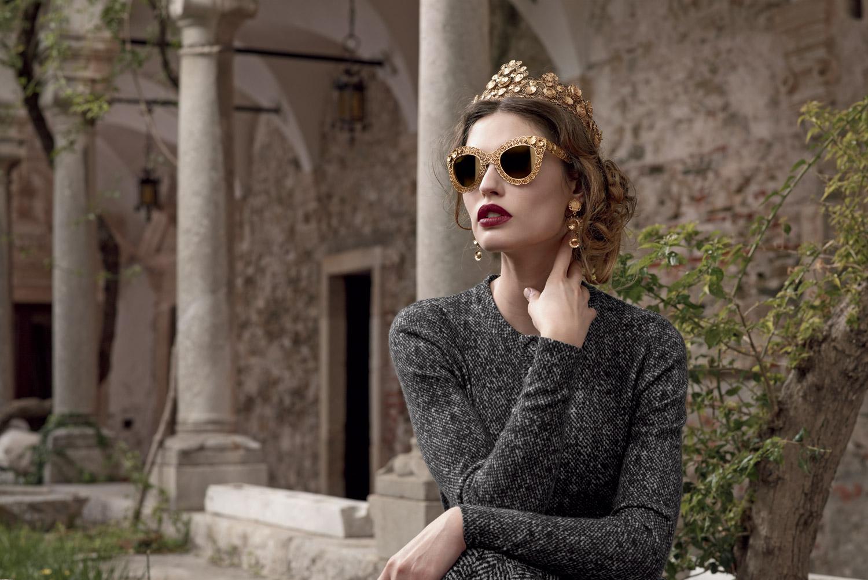 Dolce & Gabbana D&G Women Sunglasses Eyewear - Cat-Eye Dark Brown Frame