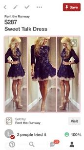 dress,2-toned lace