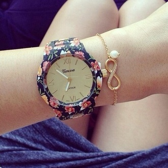 jewels watch floral geneva beautiful