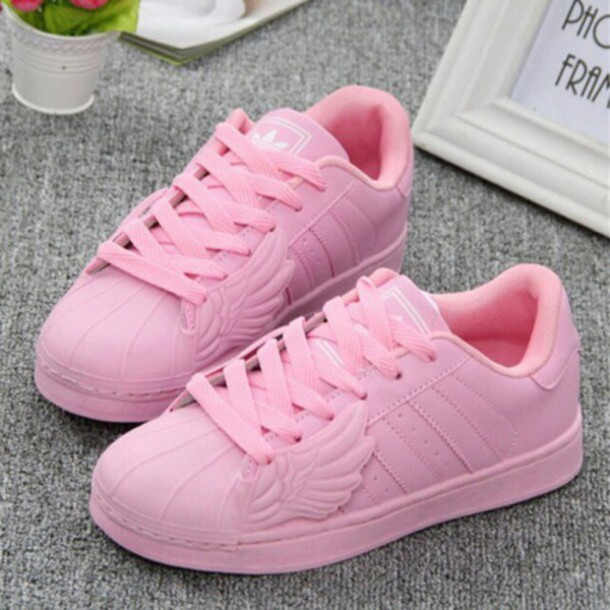 shoes pink adidas superstars adidas wings pastel pink adidas adidas  originals front wings sneakers adidas shoes e65d135e3b