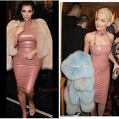 dress,pink dress,latex dress,sexy dress,fashion,style