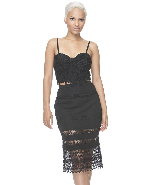 skirt black skirt midi skirt lace skirt
