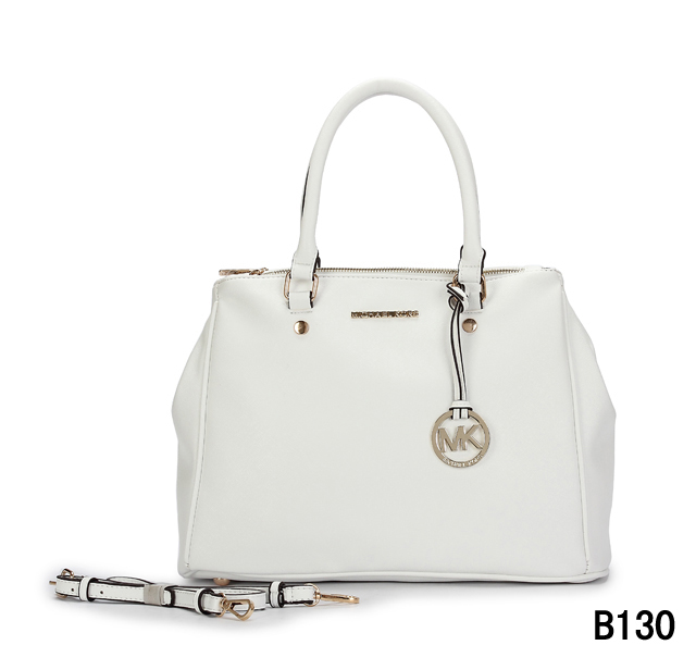 Cheap Hot Sale Michael Kors Big Leather Bag Outlet White [ Michael Kors 263] - $49.98 :