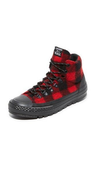 street sneakers black red shoes