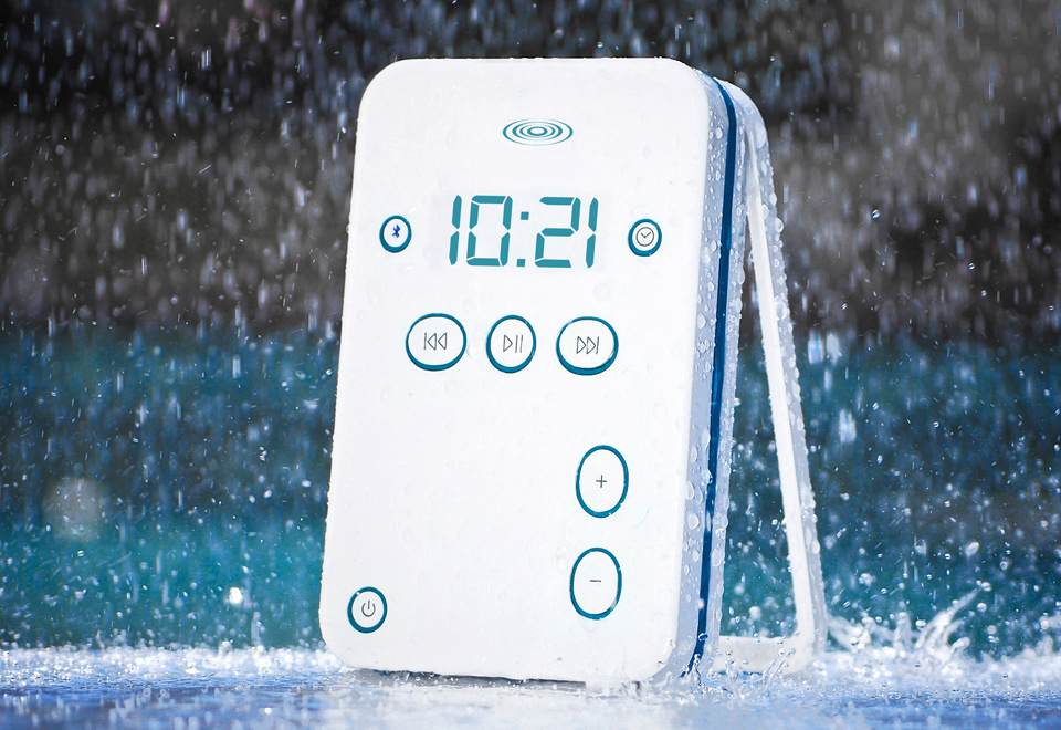 Bluetooth Shower Speaker for Music and Phone @ Sharper Image