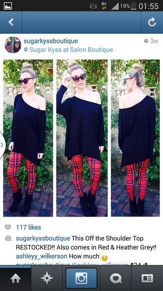sweater off the shoulder sweater black